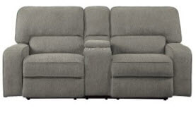 Homelegance Borneo Light Mocha Power Reclining Console Sofa with Power Adjustable Headrests