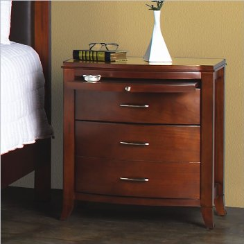 Modus Brighton Cinnamon 2-Drawer Nightstand with Tray