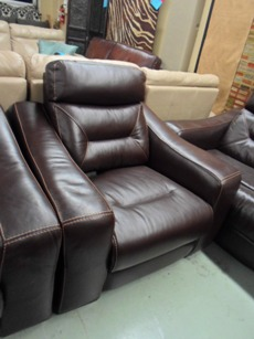 Judson Brown Leather Power Recliner