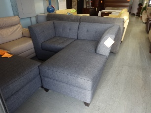 Jonathan Louis Charcoal Loveseat with Chaise