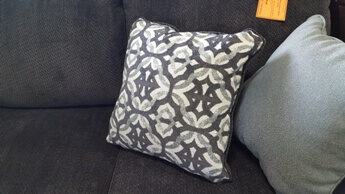 Ashley Charcoal, Silver & Ivory Throw Pillows (set of 2)