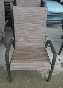 Outdoor Chocolate Mesh Arm Chair (faded)