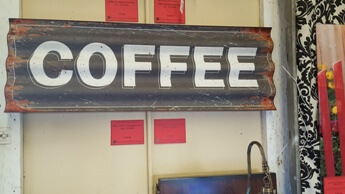 CBK Coffee Corrugated Wall Sign
