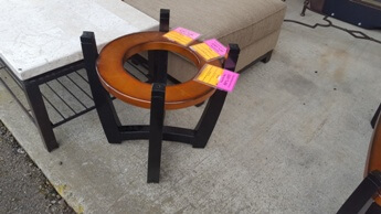 Bassett Black & Copper End Table Base (no top)