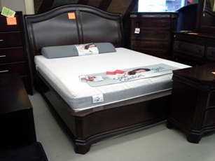 Delmont Cherry King Sleigh Bed