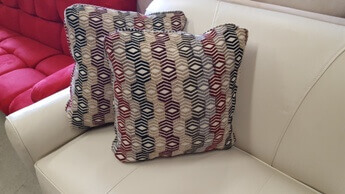Netural Diamonds Throw Pillows (set of 2)
