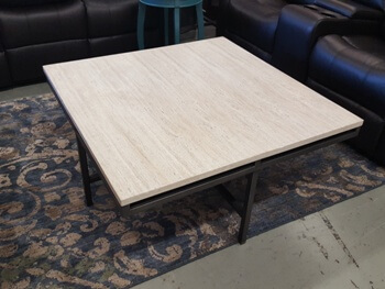Hammary East Park Square Marble Top Coffee Table