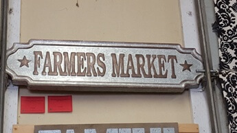CBK Farmers Market Galvanized Wall Sign