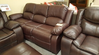 Homelegance Granley Dark Brown Faux Leather Reclining Sofa