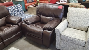 Homelegance Pecos Dark Brown Gel Match Leather Gliding Reclining Chair