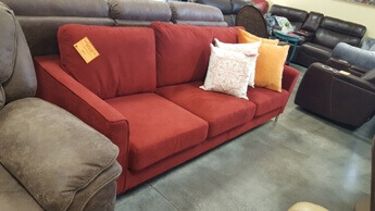 Homelegance Canaan Red Sofa