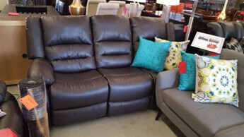 Homelegance Jarita Dark Brown Faux Leather Reclining Sofa
