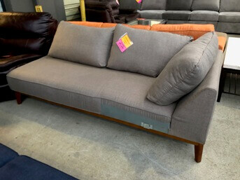Jason Furniture Flanigan Slate Grey Chaise with 3 Back Cushions (no legs)