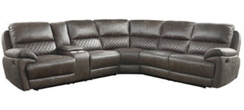 Homelegance Knoxville Microsuede 3-Piece Reclining Sectional with Console