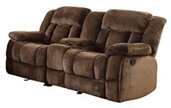 Homelegance Laurelton Brown Gliding/Reclining Console Sofa