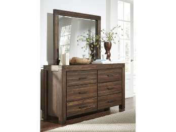 Modus Meadow Rosewood 6-Drawer Dresser with Mirror