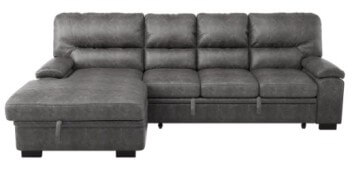 Homelegance Michigan Sectional with Sleeper, Storage & Left-Hand Chaise