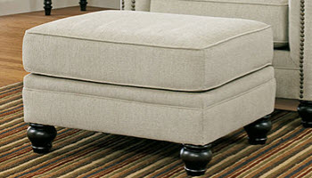 Ashley Milari Beige Ottoman