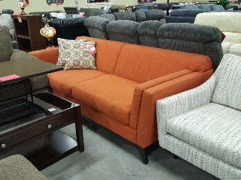Jonathan Louis Vibe Zest Orange Sofa
