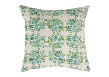 Furniture of America Light Green & Teal Floral Throw Pillows