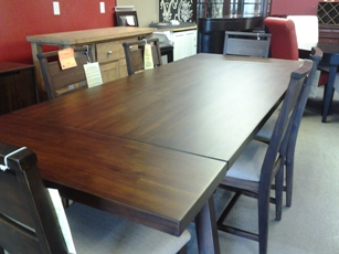 Portland Espresso Finish Dining Set with 4 Chairs