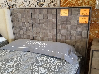 Modus Berkeley Rustic Grey Finish Cal King Headboard