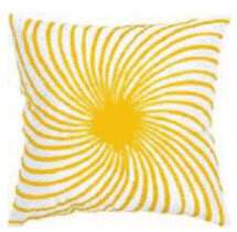 Rizzy White & Yellow Sunburst Throw Pillows (set of 2)