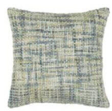 Rizzy Blue & Ivory Textured Tweed Throw Pillows (set of 2)