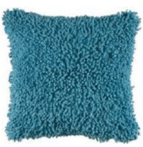 Rizzy Blue Textured Shag Throw Pillows (set of 2)