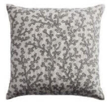 Rizzy White & Taupe Foliage Throw Pillows (set of 2)