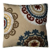 Rizzy Beige Multicolored Medallions Throw Pillows (set of 2)