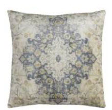 Rizzy Beige, Ivory & Charcoal Medallion Throw Pillow