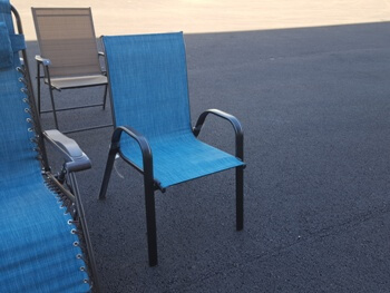 Outdoor Turquoise Mesh Arm Chair