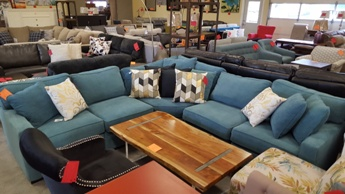 Jonathan Louis Radley 5-Piece Teal Blue Sectional
