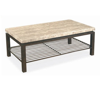 Bernhardt Tempo Travertine Marble Top Coffee Table