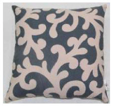Rizzy Charcoal & Ivory Foliage Throw Pillows (set of 2)