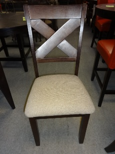 Arlington Cappuccino Finish X-Back Side Chairs (set of 6)